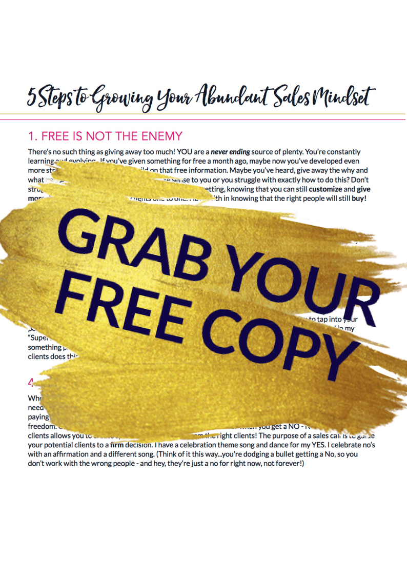 Freebies-5 STEPS TO GROWING YOUR ABUNDANT SALES MINDSET