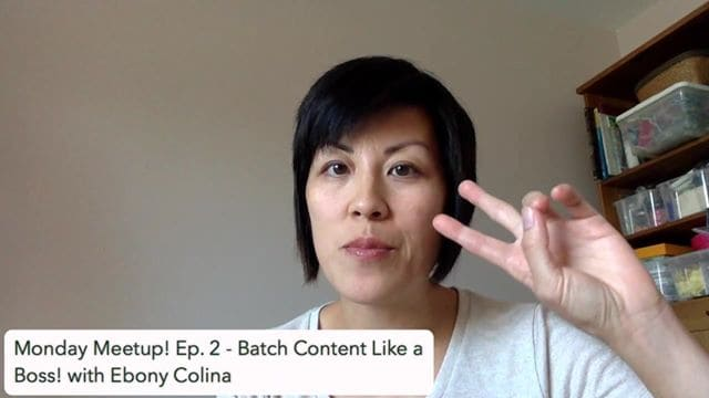 Batch content like a BOSS! - with Ebony Colina
