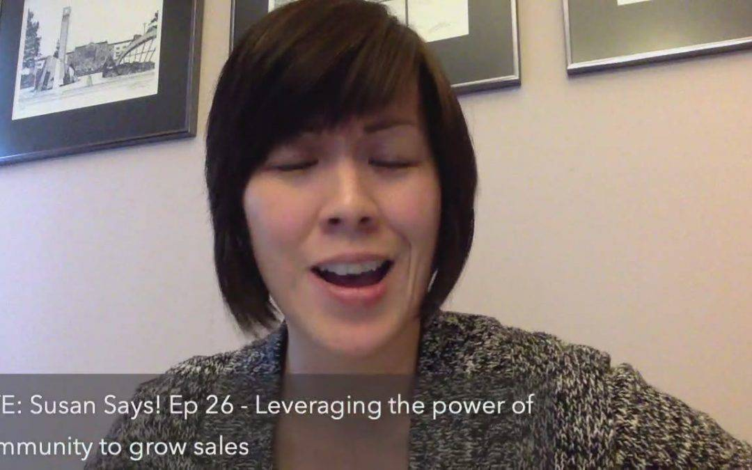 Leveraging the power of community to grow sales