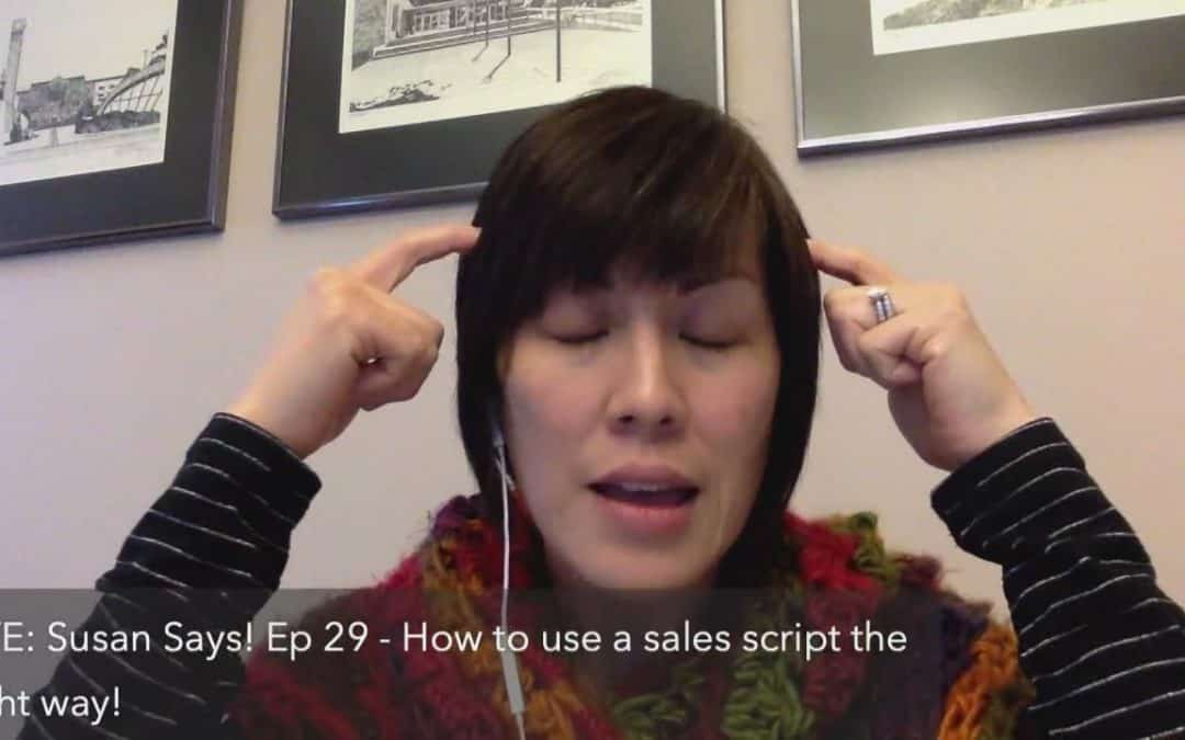 How to use a sales script the right way!