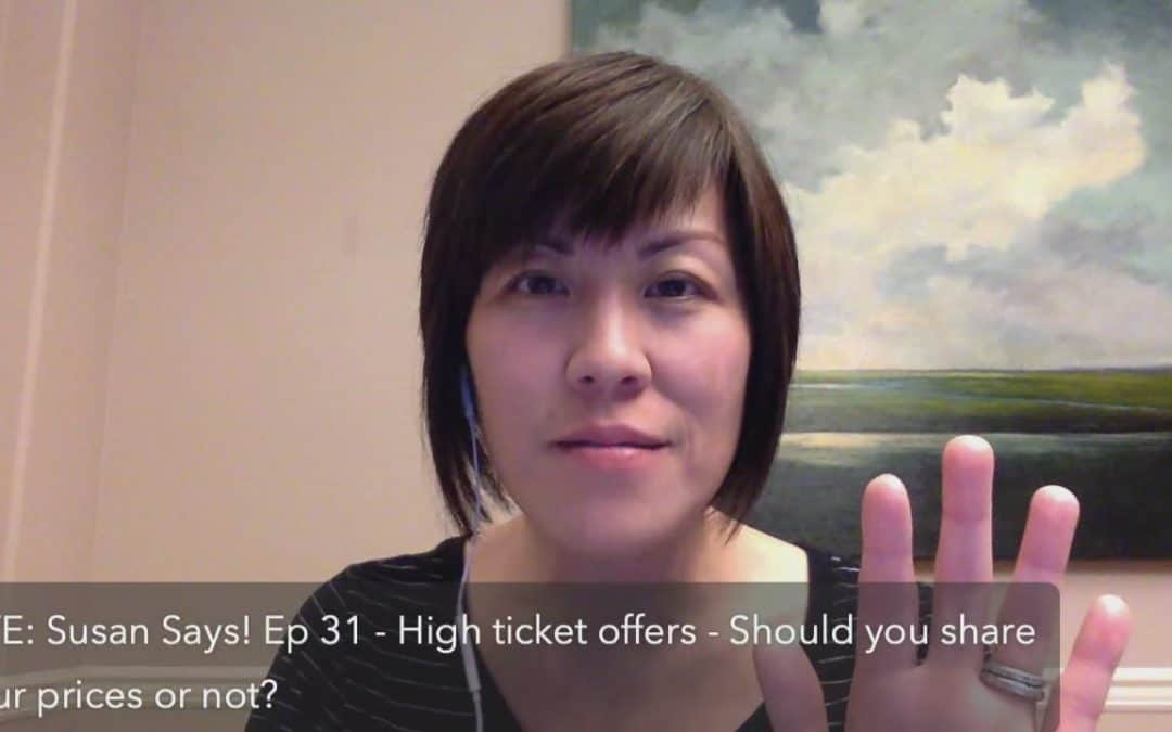high ticket offers – should you post or share your prices before the call or not?
